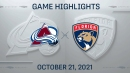 NHL Highlights: Panthers 4, Avalanche 1