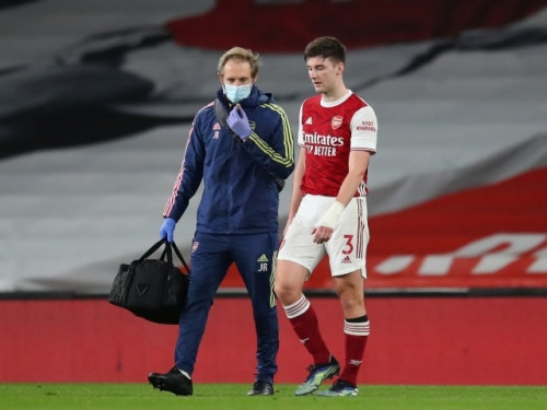 Arsenal's Kieran Tierney misses out against Aston Villa with bruised ankle