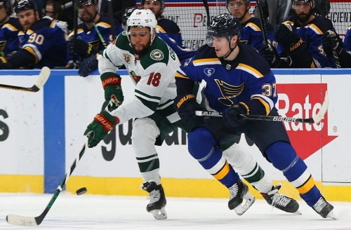 Blues' arena can be full but their lineup will be missing two key players for home opener