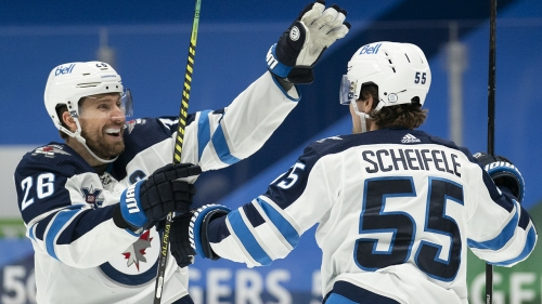Jets' Scheifele, Wheeler remain in COVID-19 protocol, won't play vs. Predators