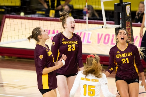 ASU Volleyball: Isanovic and Jeter lead Sun Devils past No. 18 Utah