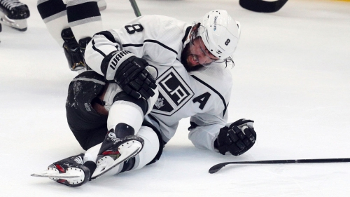 Kings defenceman Drew Doughty avoids ligament damage in knee