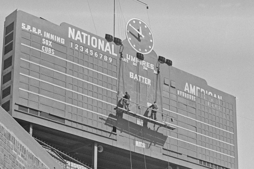 Cubs history: The Wrigley Field scoreboard under construction