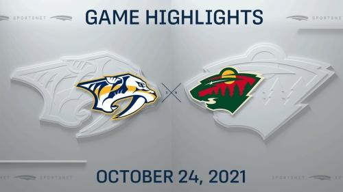 NHL Highlights: Predators 5, Wild 2