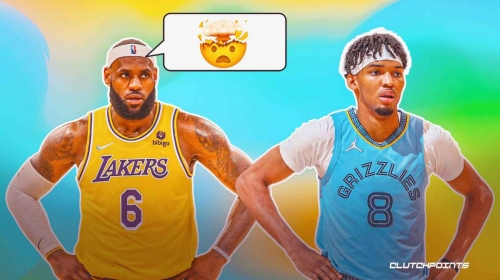 Lakers superstar LeBron James' weird reaction to playing against Bronny's ex-high school teammate