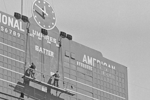 Wrigley Field history: Here's why the word 'SUBURBAN' appears in this photo