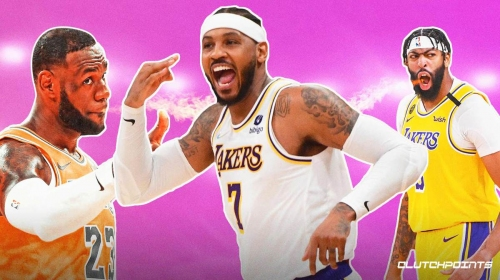 Lakers star LeBron James, Anthony Davis call out Carmelo Anthony's haters after historic scoring feat
