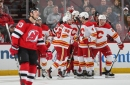 Flames Ride Four Goal First Period to Victory in New Jersey