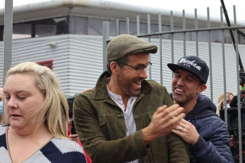 Hollywood stars Ryan Reynolds and Rob McElhenney arrive in Wrexham for very first time