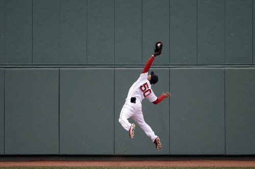 Mookie Betts, Boston Red Sox RF, wins his first career Gold Glove award