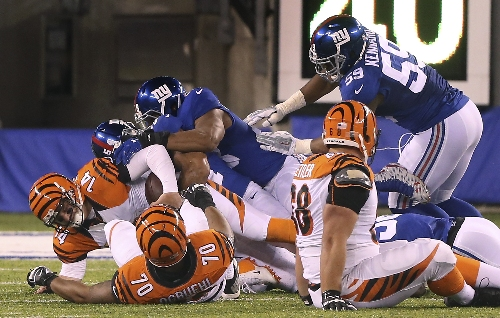 Dalton and Bengals falter in 4th, fall to Giants 21-20 The Associated Press