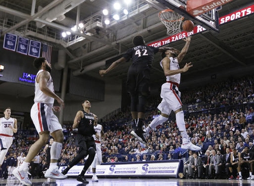 Mathews leads No. 14 Gonzaga over San Diego State, 69-48