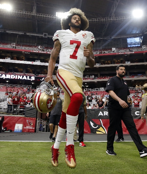 Kaepernick stands behind decision not to vote for president The Associated Press