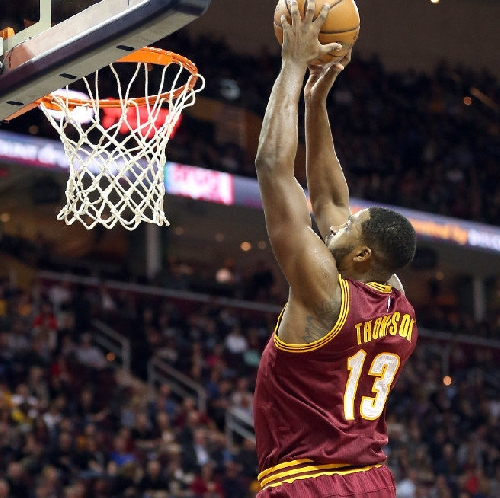 Kyrie Irving feeds Tristan Thompson for a two-handed dunk against the Indiana Pacers