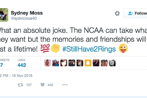 D3 team has to vacate a title because Randy Moss' daughter stayed with a coach while recovering from injury