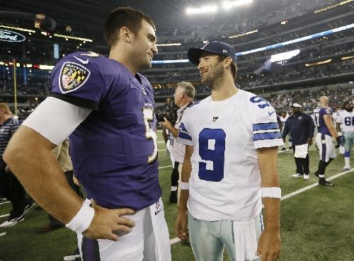 Cowboys face Flacco's Ravens with Prescott, new backup Romo The Associated Press