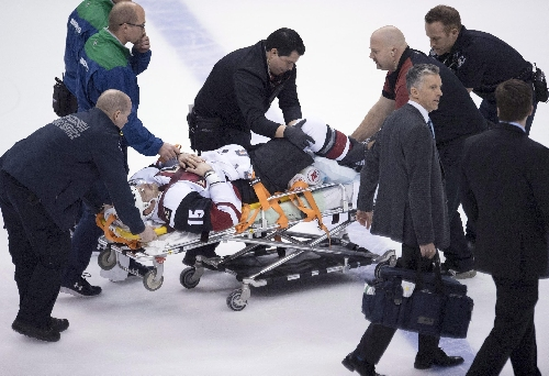 Coyotes F Brad Richardson carted off ice on stretcher The Associated Press