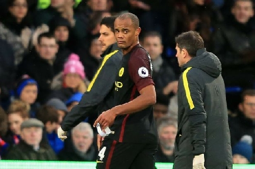 Pep Guardiola confirms Vincent Kompany injury after Man City captain's latest setback