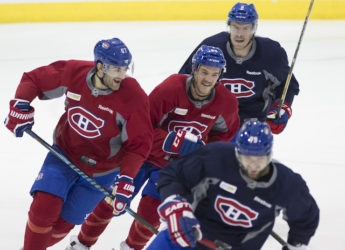 Mitchell centres Pacioretty and Shaw ahead of Senators game at Bell Centre