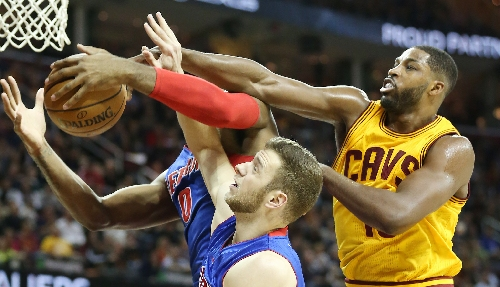 Judge Cavs' Tristan Thompson by his feet, not his improved shot blocking