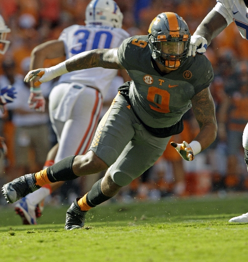 Vols' Barnett back home to chase Reggie White's sack record The Associated Press