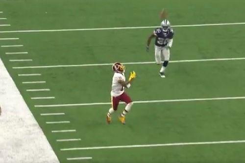 DeSean Jackson's quick stutter step left him wide open for 67-yard TD
