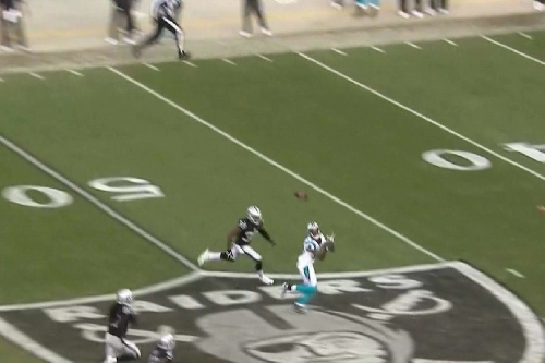 Cam Newton gets Panthers back in game vs. Raiders with 88-yard bomb to Ted Ginn Jr
