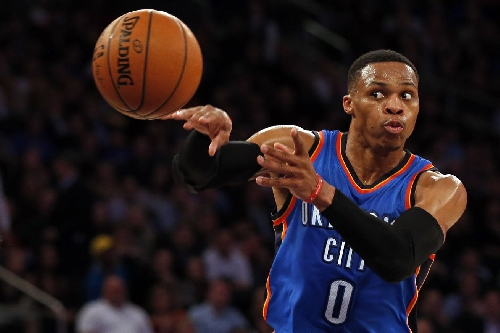 NBA scores 2016: Russell Westbrook is now averaging a triple-double