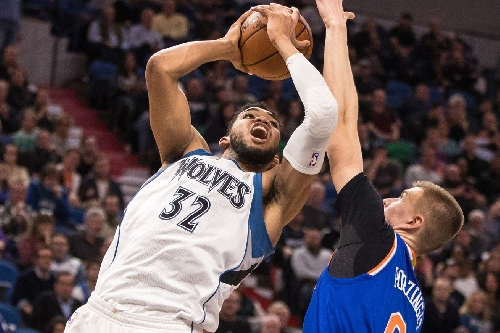 More highlights and reactions from the epic Kristaps Porzingis - Karl-Anthony Towns duel