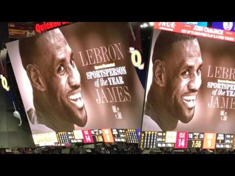 Cleveland Cavaliers fans cheer LeBron James for winning SI's Sportsperson of the Year award