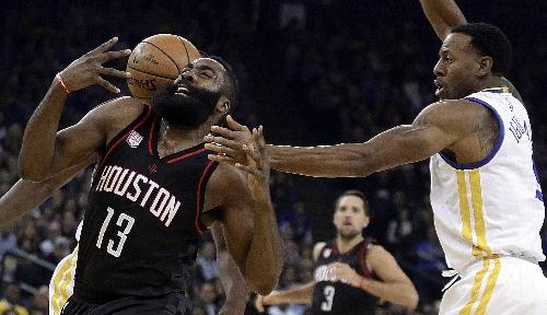 Harden, Rockets snap Warriors' 12 game win streak in 2 OTs The Associated Press