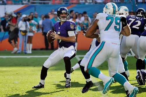 Ravens QB Joe Flacco is 5-0 all-time vs. Dolphins