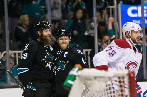 Jones' dominant performance leads Sharks past Canadiens
