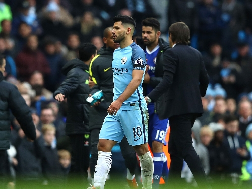 Manchester City vs Chelsea: Pep Guardiola insists Sergio Aguero foul 'was not intentional'