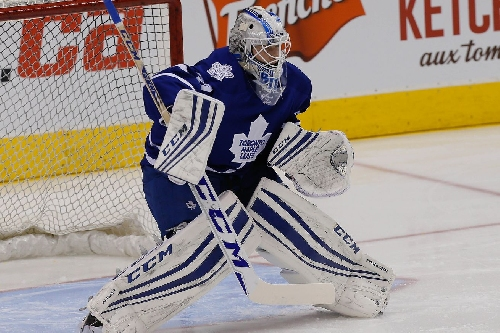 Toronto Maple Leafs recall Antoine Bibeau from the Marlies