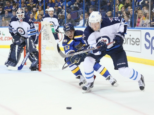 Blues' win streak snapped with 3-2 overtime loss to Jets