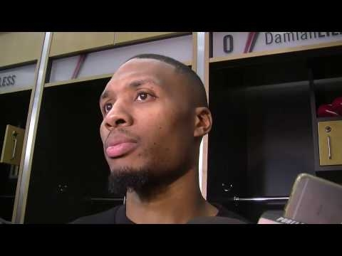 Watch: Damian Lillard says Trail Blazers showed 'great character' in win over Miami Heat