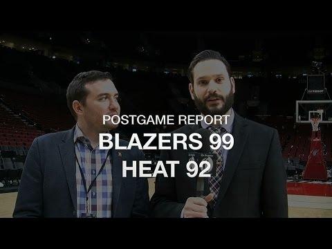 Postgame report: Portland Trail Blazers hold off Miami Heat 99-92