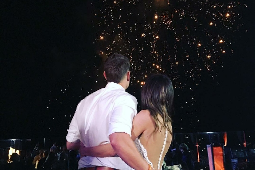 Garrett Richards got married in Cabo last night, congrats to the newlyweds!