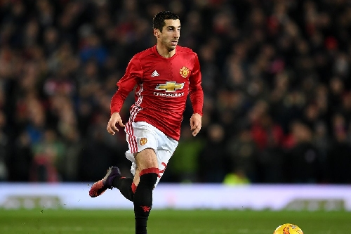 Henrikh Mkhitaryan starts as United face Everton