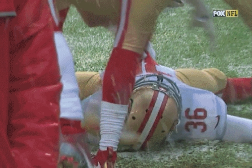 NFL players are making snow angels, and one of them got penalized for it