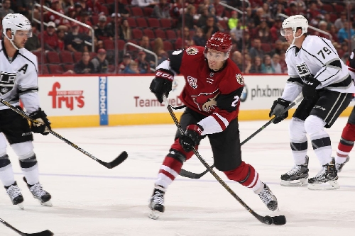 Arizona Coyotes send down Laurent Dauphin and Anthony DeAngelo and call up Brendan Perlini