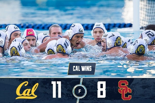 Back on Men's Water Polo summit, Cal wins NCAA championship after thrilling 11-8 OT win over USC