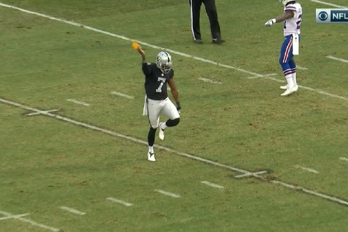 Marquette King gets flagged for celebrating with flag thrown for roughing the punter