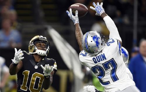 Detroit Lions' Glover Quin turns the table on Saints QB Drew Brees