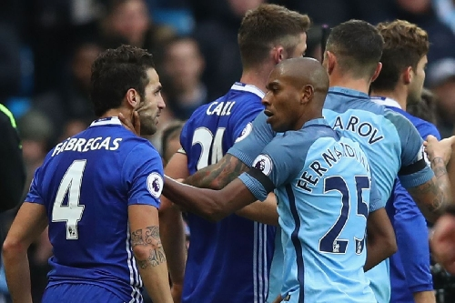 Manchester City and Chelsea to both be charged after Aguero tackle, mass fracas at the end of Saturday's match — report