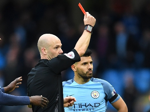 Manchester City news: Sergio Aguero given four-game ban after Chelsea red card