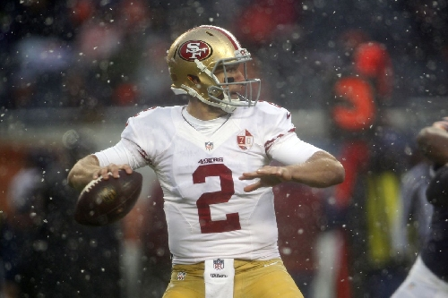 Blaine Gabbert talks about bad weather, coming off the bench for 49ers