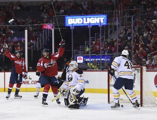 Johansson scores twice as Caps beat Sabres 3-2 in OT The Associated Press