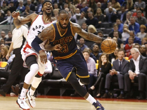 LeBron James imposes his will with 34 points as Cleveland Cavaliers put the kibosh to Toronto Raptors' 6-game winning streak in NBA action